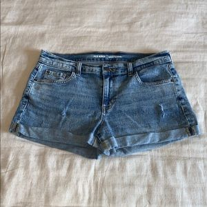 Old Navy Distressed Boyfriend Cuffed Shorts 10